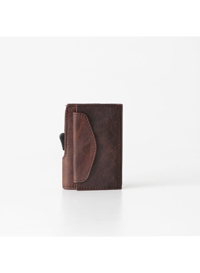 C-Secure Coin Wallet Brown