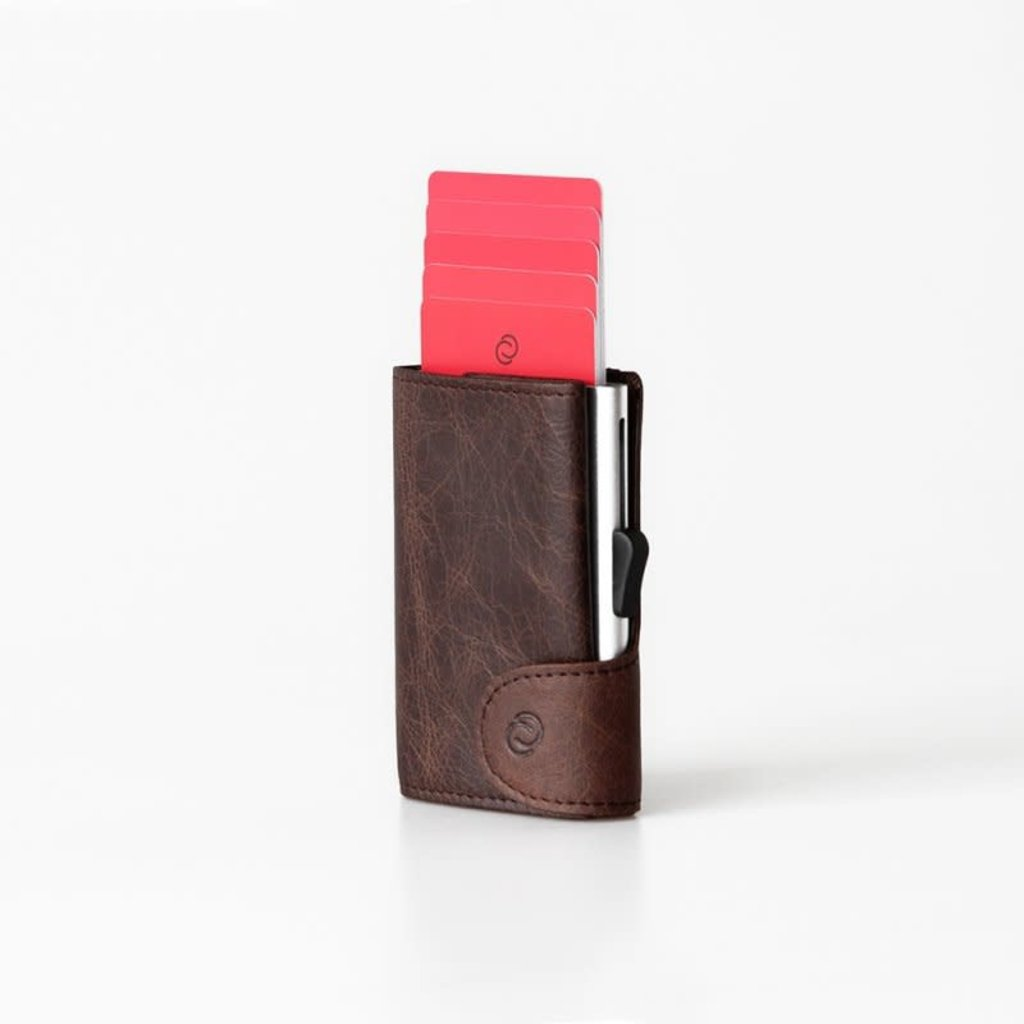 C-Secure C-Secure Coin Wallet Brown