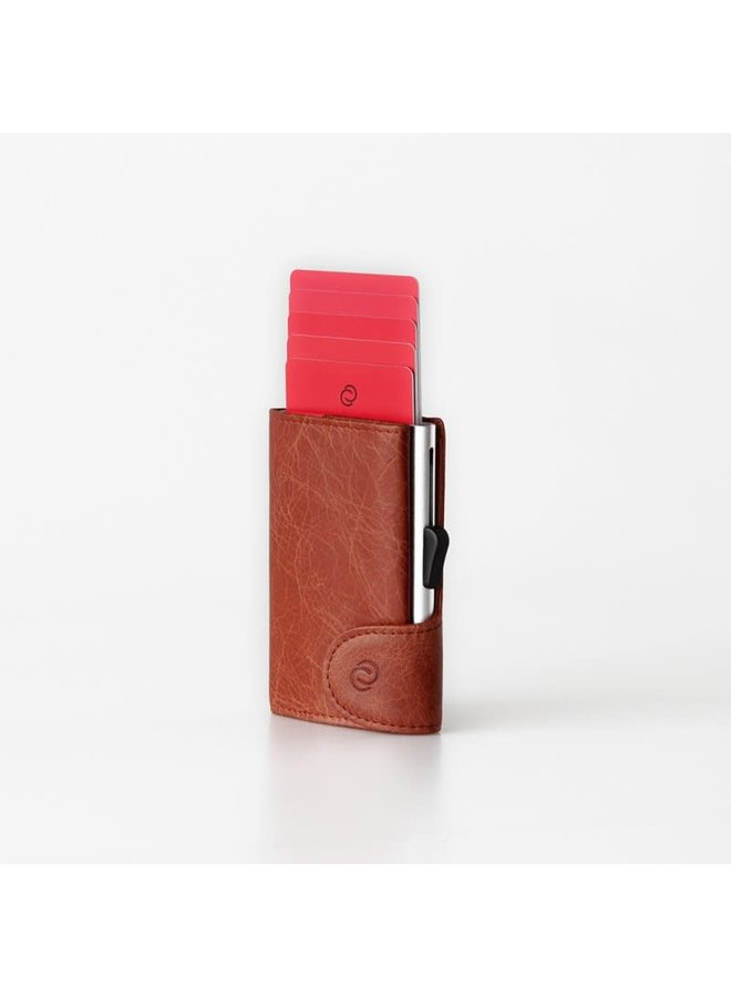 C-Secure Coin Wallet Cognac