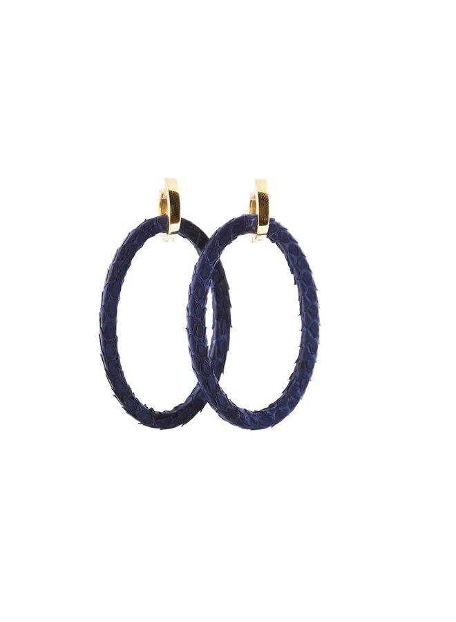Bauer Basics oorbellen Python Donkerblauw