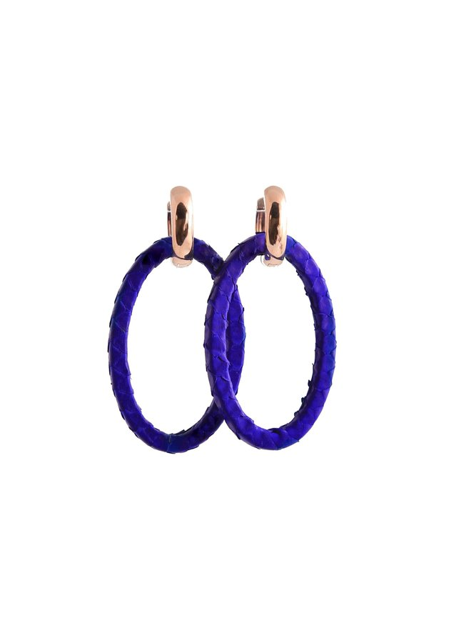 Bauer Basics oorbellen Python Cobalt