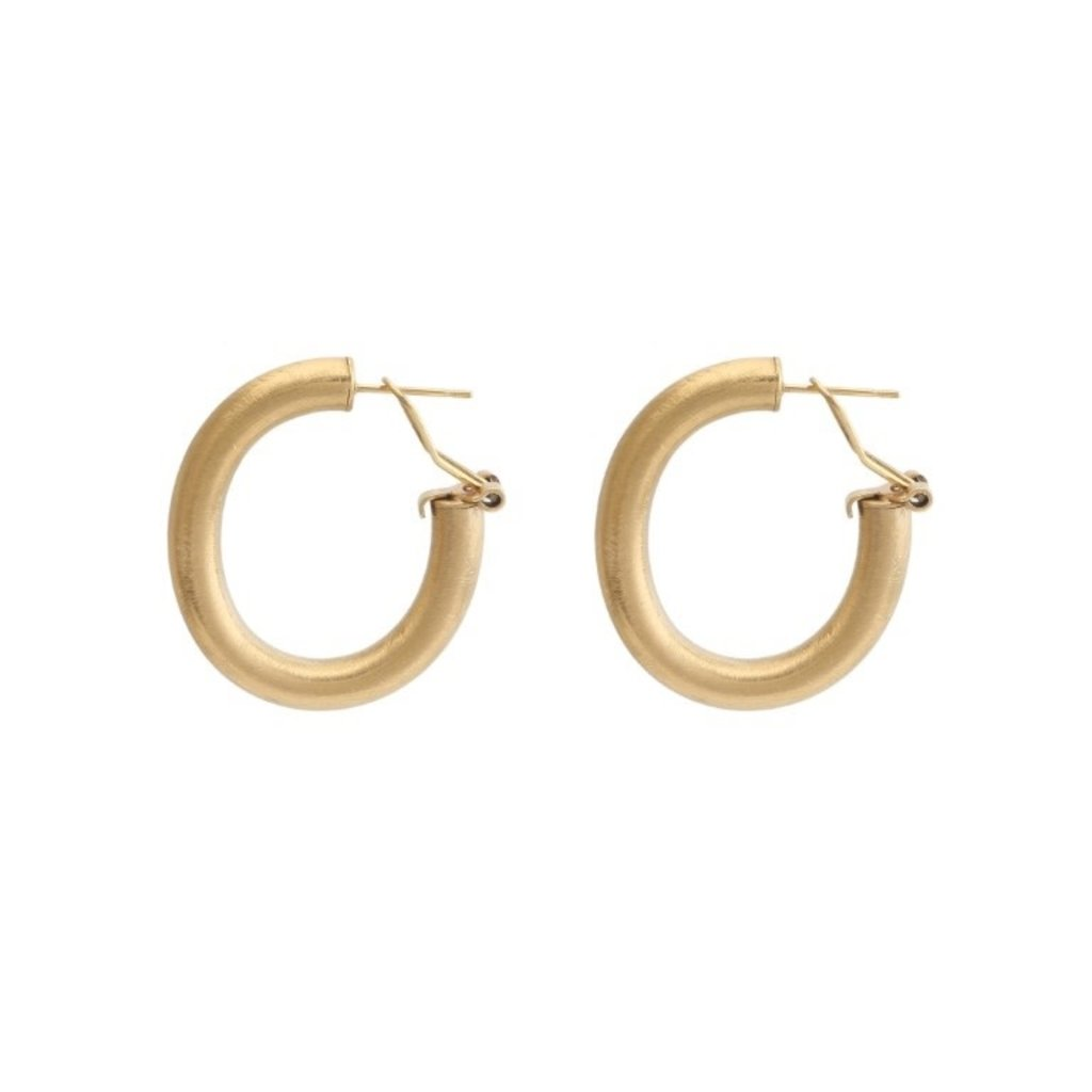 By Jam Gioielli By Jam Gioielli oorbellen Creool S Mat Gold Plated