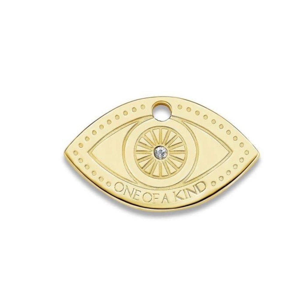 Mi Moneda Mi Moneda Monogram tag Eye 20 mm Gold Plated