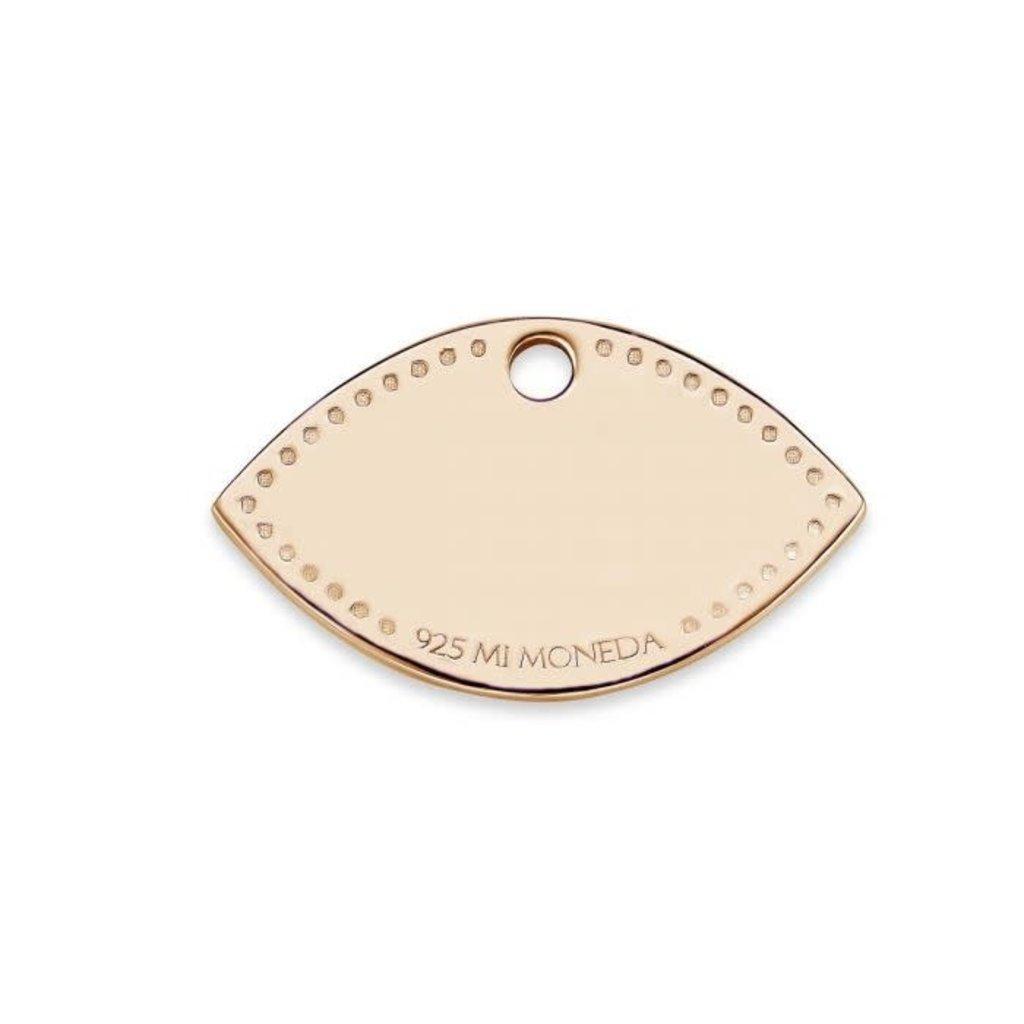 Mi Moneda Mi Moneda Monogram tag Eye 20 mm Rosé Gold Plated