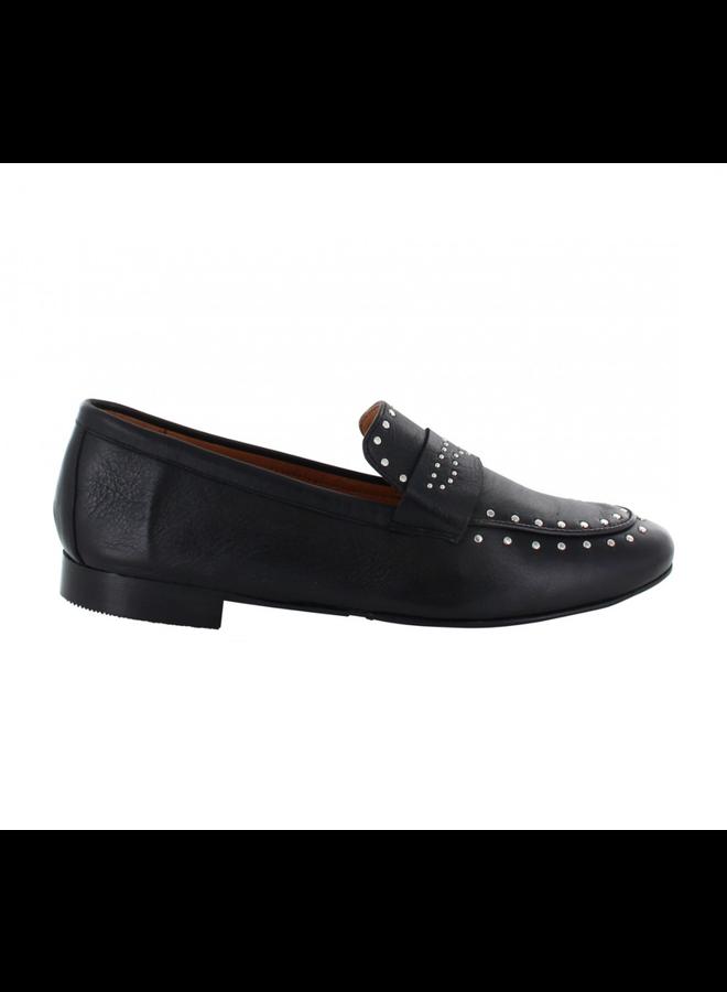Tango loafer Pleun 56-D Black Leather Studs