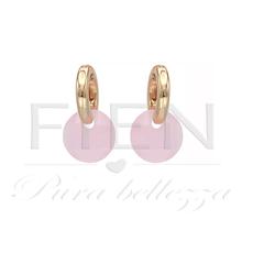 FIEN FIEN oorbellen F15-7 Facet Bead Pink
