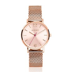 Zinzi Zinzi horloge Lady Metallic Rosé Gold Plated