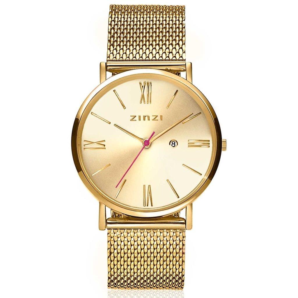 Zinzi Zinzi horloge Roman Metallic Gold Plated