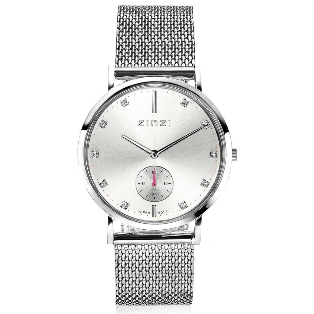 Zinzi Zinzi horloge Glam Metallic Silver