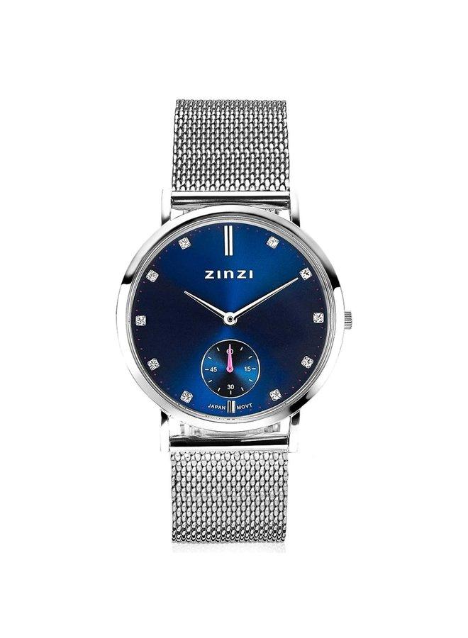 Zinzi horloge Glam ZIW525M Silver/Blue 34mm