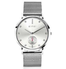 Zinzi Zinzi horloge Retro Metallic Silver