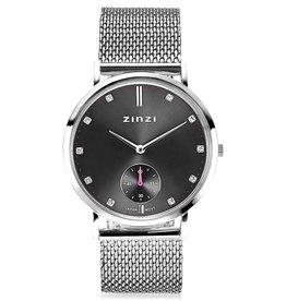Zinzi Zinzi horloge Retro Grijs/Silver