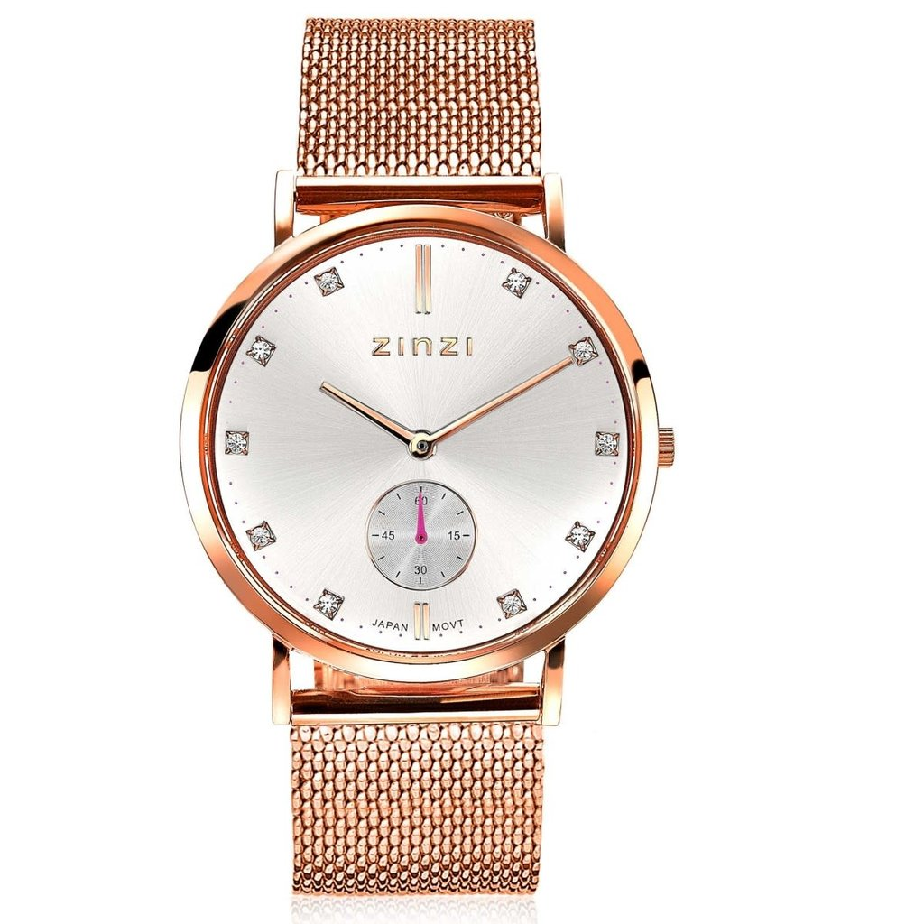 Zinzi Zinzi horloge Retro Rosé Gold Plated