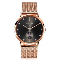 Zinzi Zinzi horloge Retro Grijs/Rosé Gold Plated