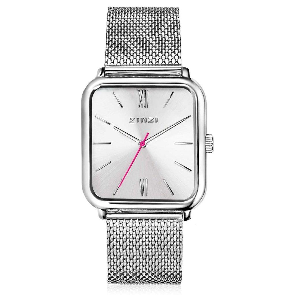 Zinzi Zinzi horloge Square Roman Metallic Silver