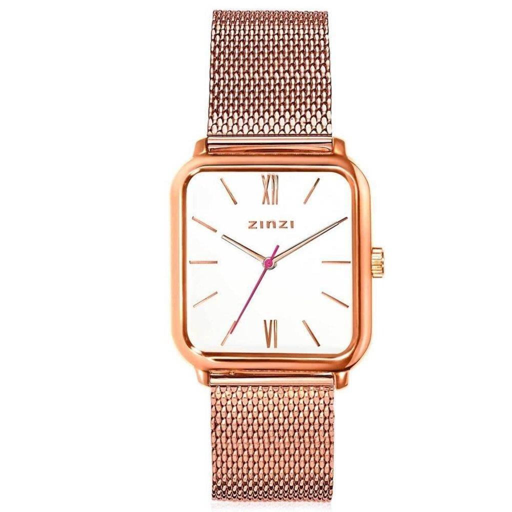 Zinzi Zinzi horloge Square Roman ZIW808M Rosé Gold Plated