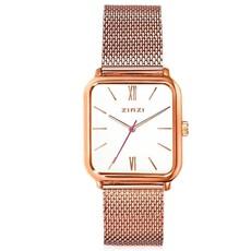 Zinzi Zinzi horloge Square Roman Rosé Gold Plated