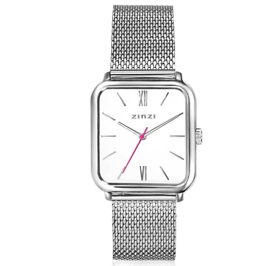 Zinzi Zinzi horloge Square Roman Silver