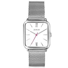 Zinzi Zinzi horloge Square Roman ZIW806M Silver