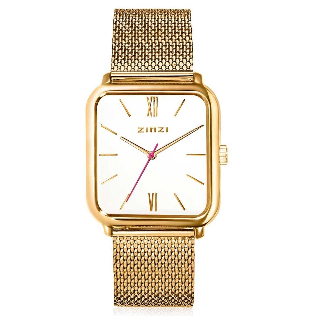 Zinzi Zinzi horloge Square Roman ZIW807M Gold Plated