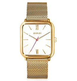 Zinzi Zinzi horloge Square Roman Gold Plated