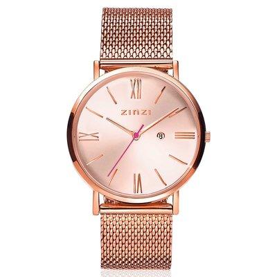 Zinzi Zinzi horloge Roman Metallic Rosé Gold Plated