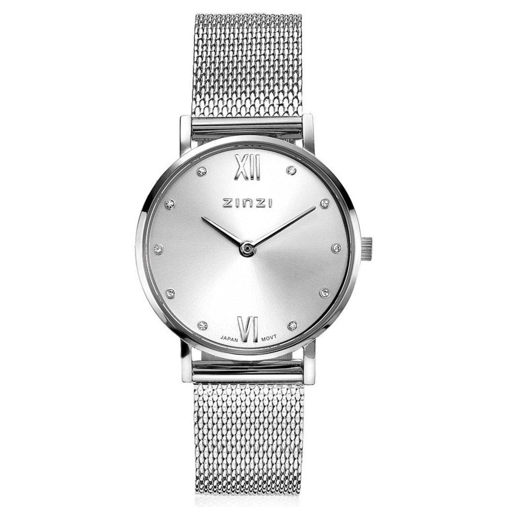 Zinzi Zinzi horloge Lady Metallic Crystal Silver