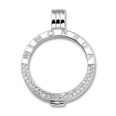 Mi Moneda Mi Moneda Classic pendant Deluxe Silver