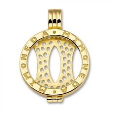 Mi Moneda Mi Moneda Classic pendant Gold Plated