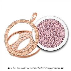 Mi Moneda Mi Moneda Classic pendant Rosé Gold Plated