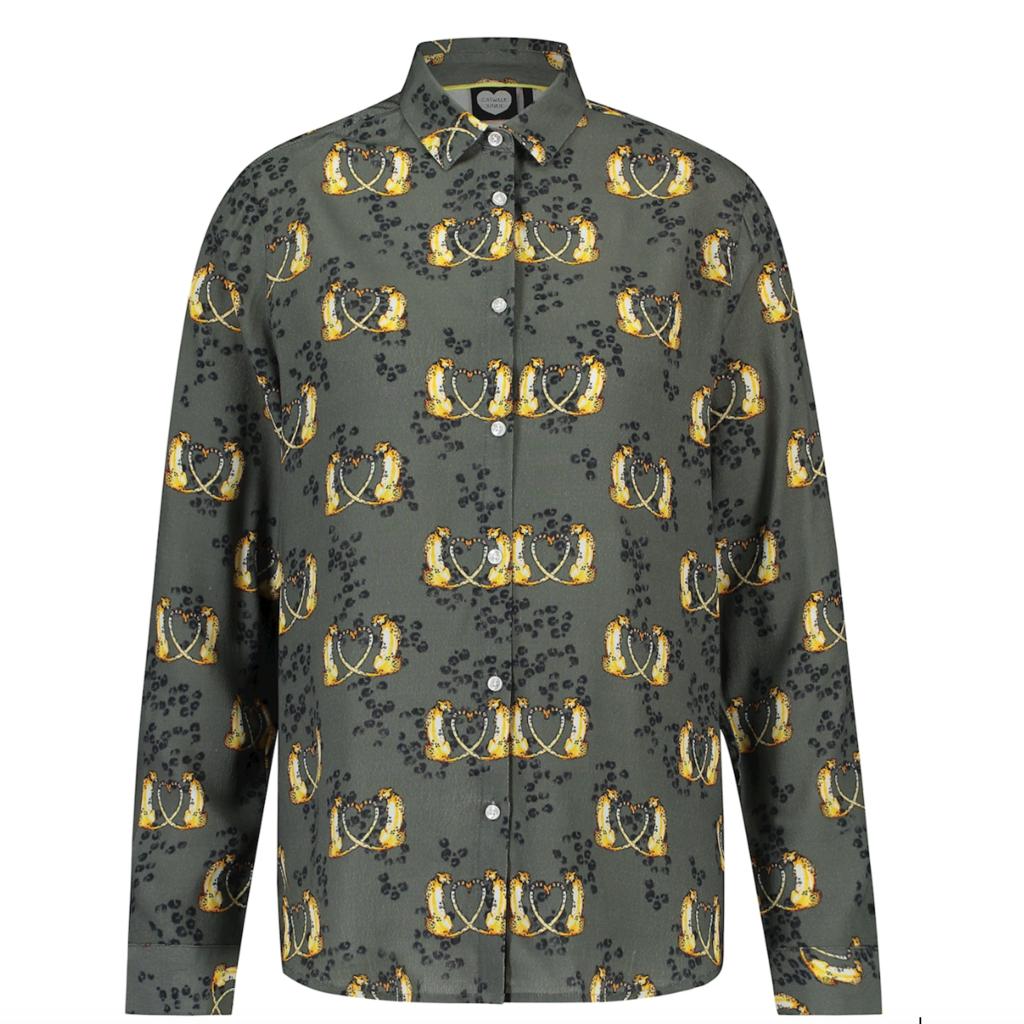 Catwalk Junkie Catwalk Junkie blouse Cheetah Love 361 Cactus