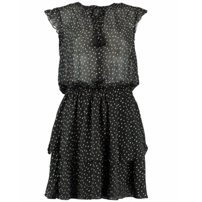 Circle of Trust Circle of Trust dress Gaby 1748 Dots Moss Army