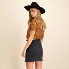 Catwalk Junkie Catwalk Junkie skirt Studded 100 Faded Black