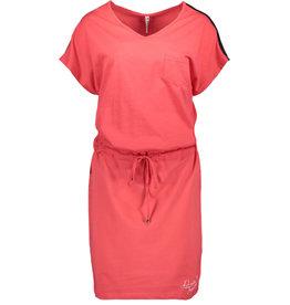 Zoso Zoso 193 Sellin Dress with lurex tape 0019 red-white