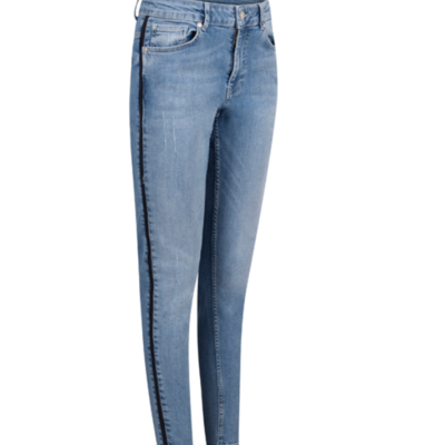 Zoso Zoso 192 Finley Denim pant with piping