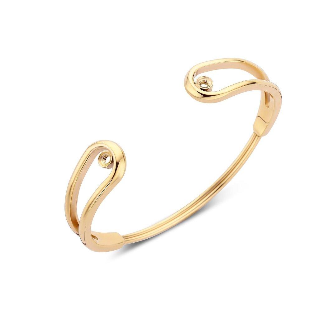 Melano Melano Twisted armband Double Loop Gold Plated