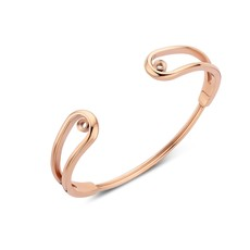 Melano Melano Twisted armband Double Loop Rosé Gold Plated