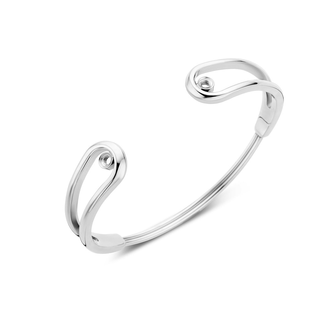 Melano Melano Twisted armband Double Loop Stainless Steel