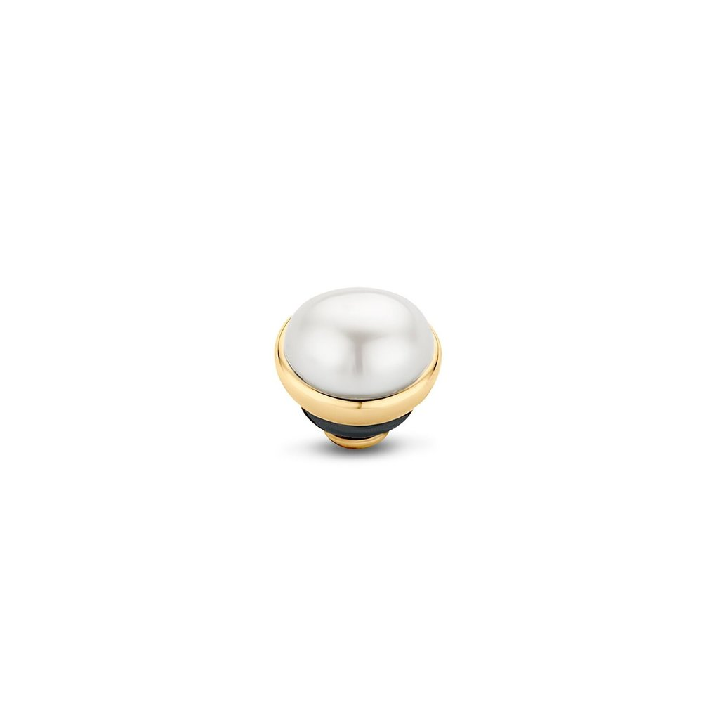 Melano Melano Twisted meddy Pearl Stone Gold Plated