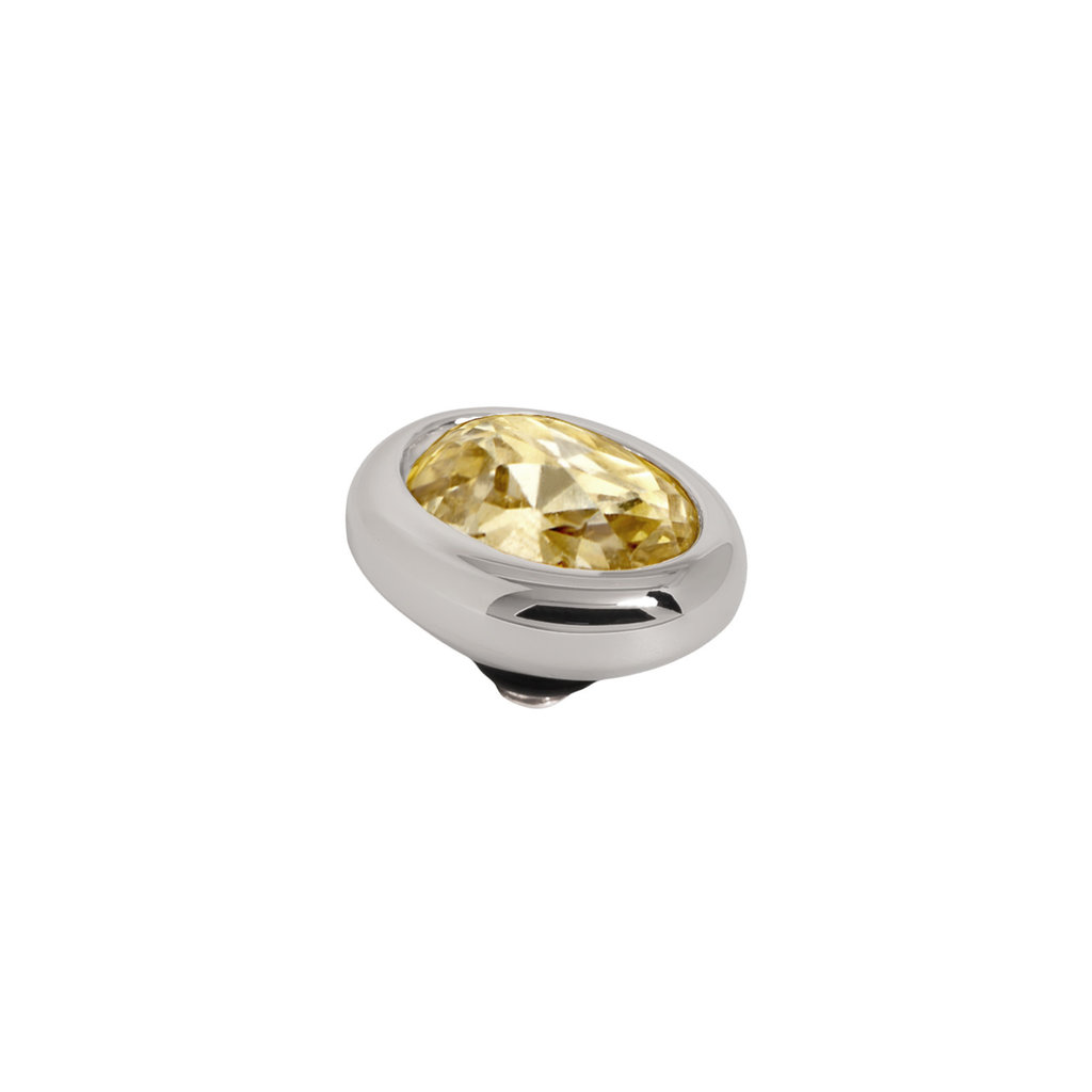Melano Melano Twisted meddy Oval Stainless Steel Golden Shadow