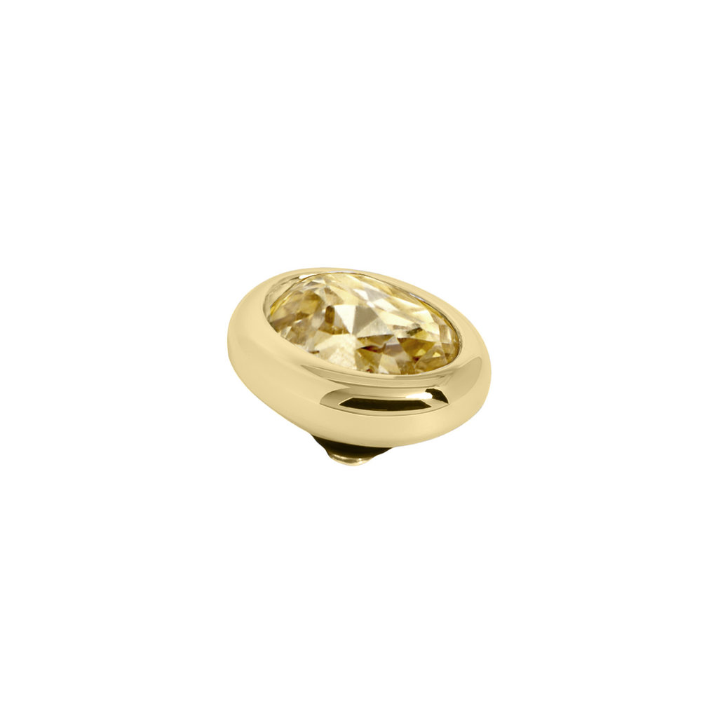 Melano Melano Twisted meddy Oval Gold Plated Golden Shadow
