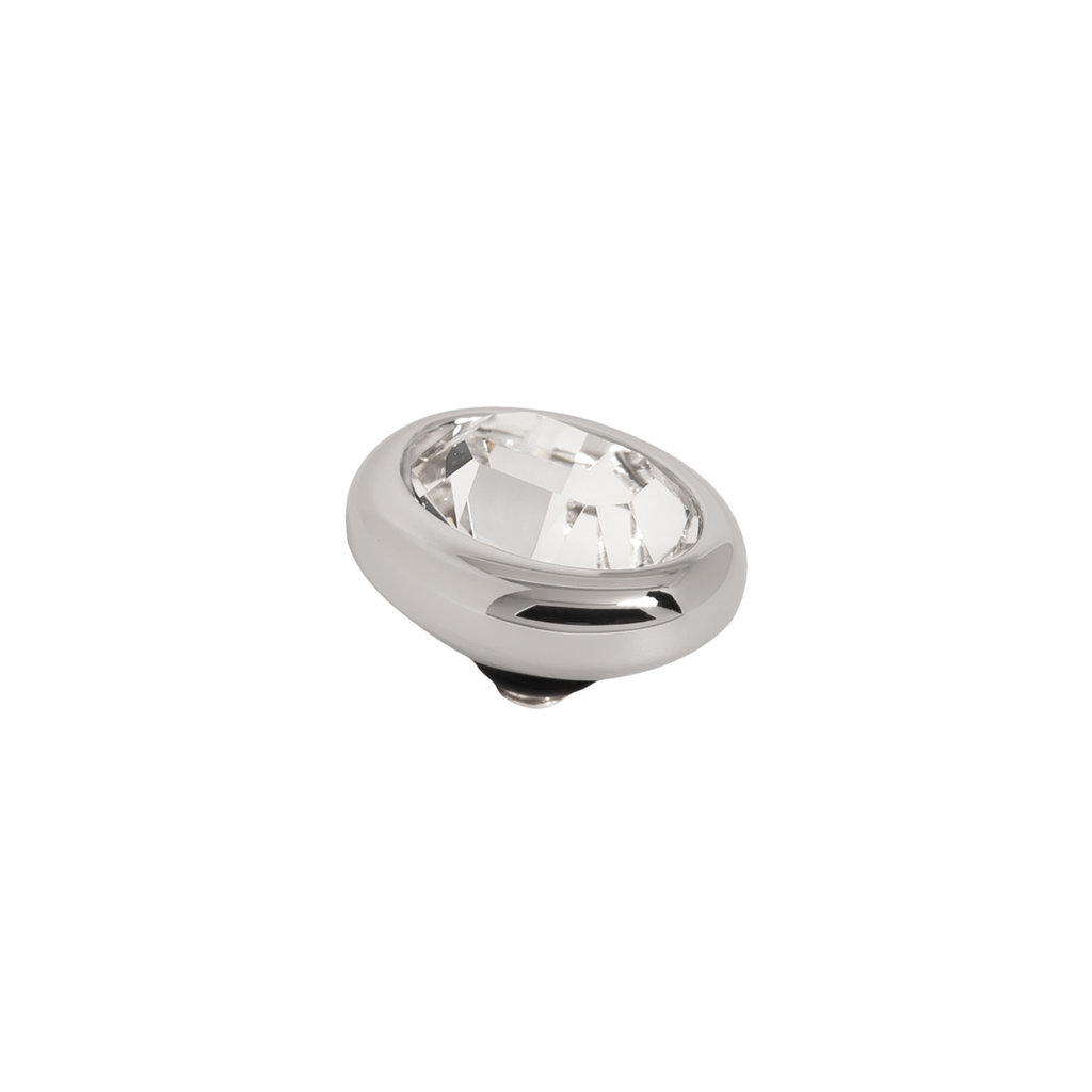 Melano Melano Twisted meddy Oval Stainless Steel Crystal