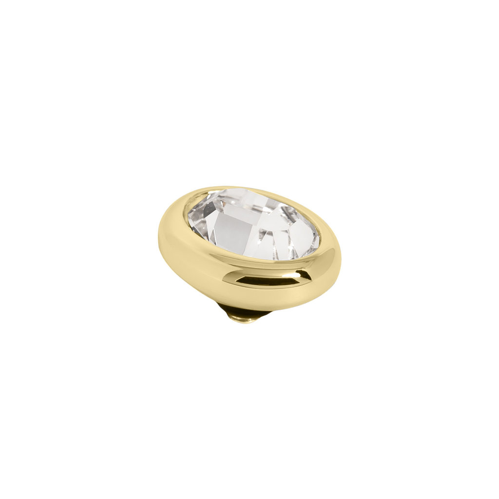 Melano Melano Twisted meddy Oval Gold Plated Crystal