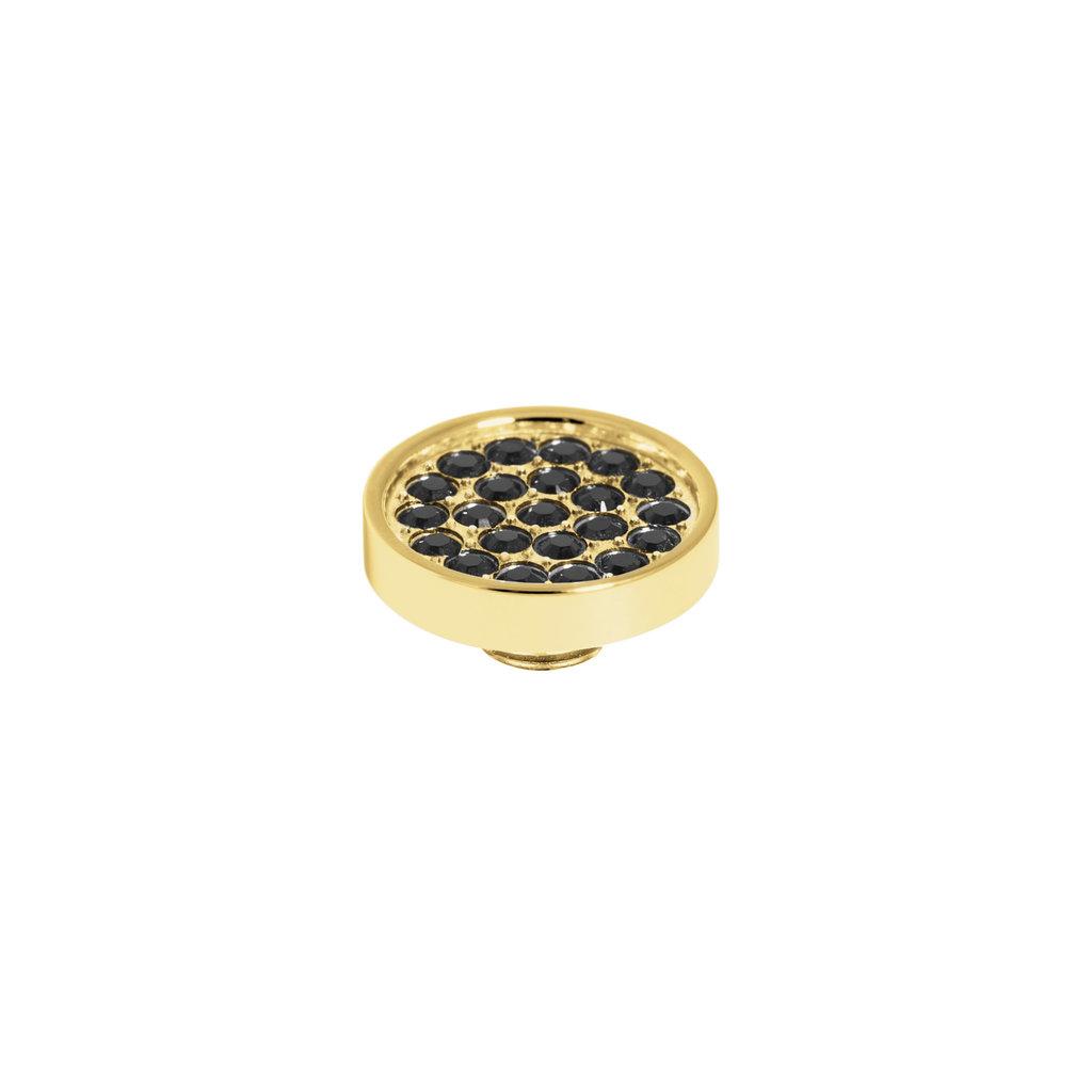 Melano Melano Vivid meddy CZ Plate Gold Plated Black