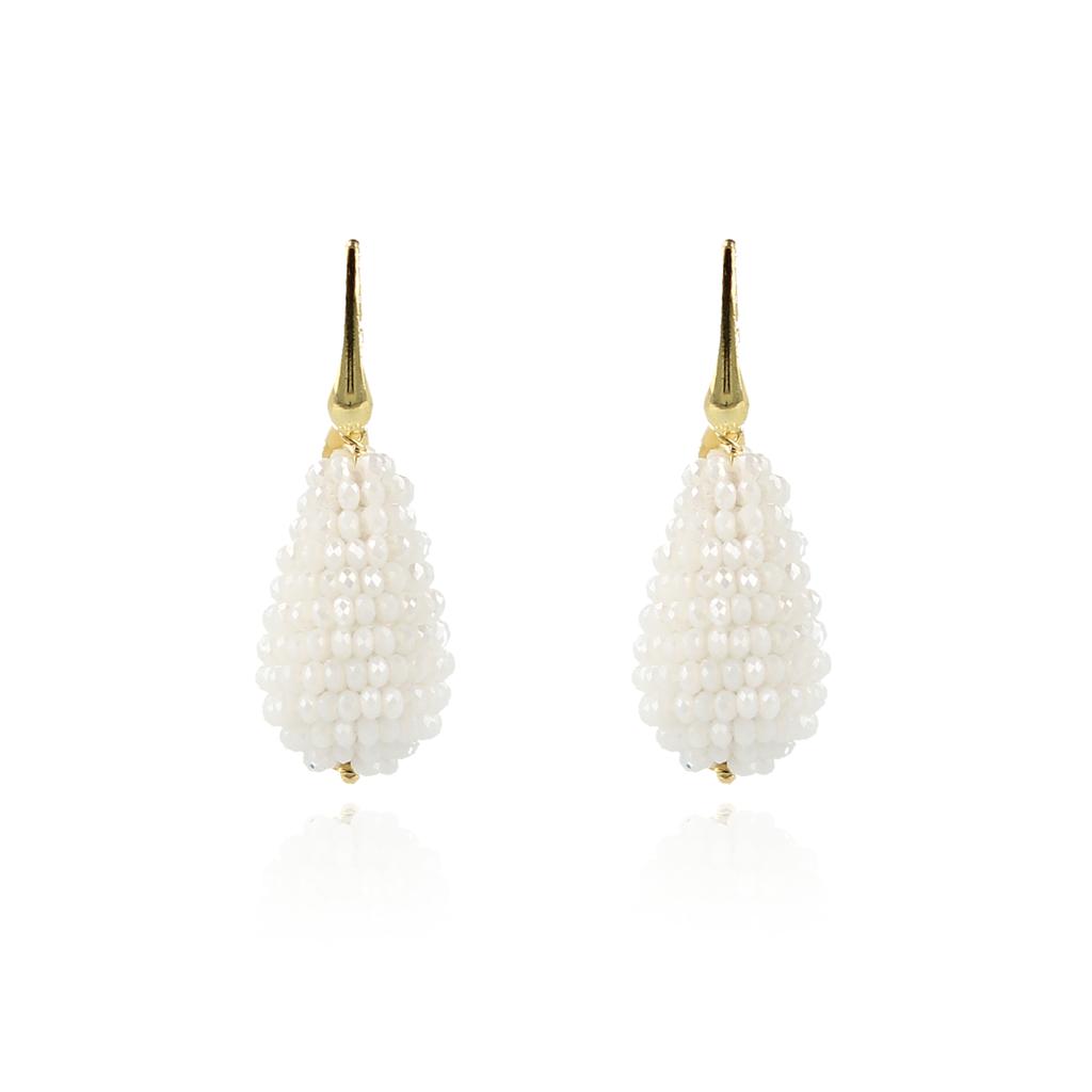 LOTT. Gioielli LOTT. Exclusive Collection oorbellen Glassberry Cone S Milky White