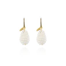 LOTT. Gioielli LOTT. Exclusive Collection oorbellen Glassberry Cone XS Milky White