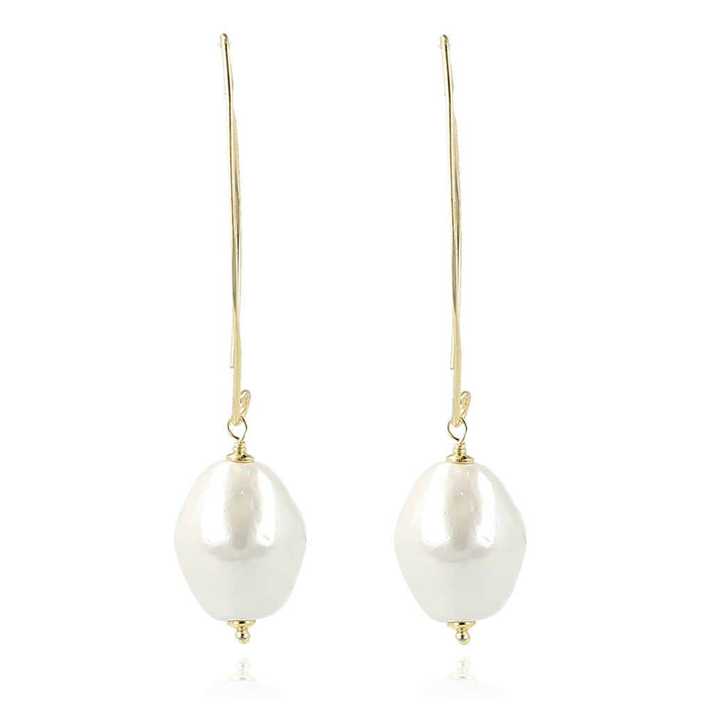 LOTT. Gioielli LOTT. Exclusive Collection oorbellen CE Quartz Pearl Gold Plated