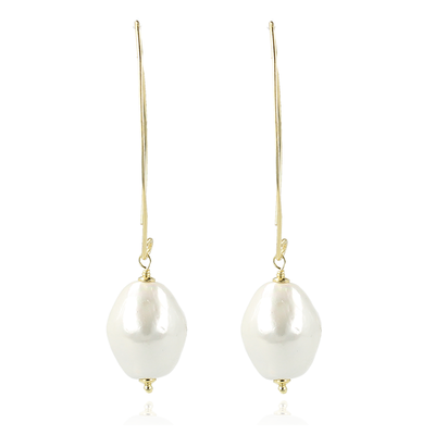 LOTT. Gioielli LOTT. Exclusive Collection oorbellen Quartz Pearl Gold Plated