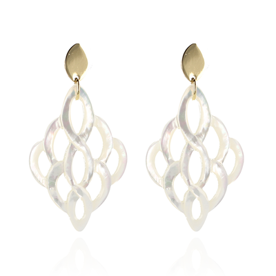 LOTT. Gioielli LOTT. Exclusive Collection oorbellen Pearl Rhombus