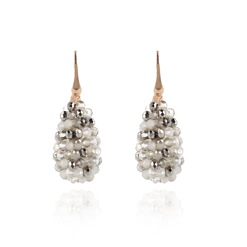LOTT. Gioielli LOTT. Exclusive Collection oorbellen Mix Glassberry Cone S Silver